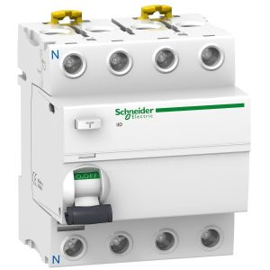 Protectie diferentiala iID, 4P, 63A, 30mA, tip AC, Schneider Electric ACTI9 A9R41463